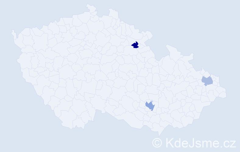 Příjmení: 'Halický', počet výskytů 10 v celé ČR
