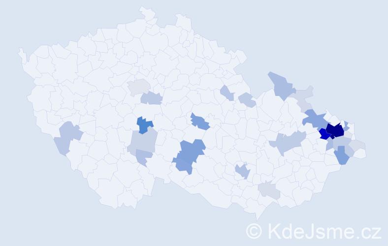 Příjmení: 'Drastich', počet výskytů 141 v celé ČR