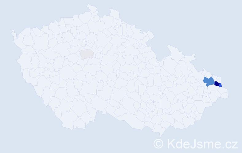 Příjmení: 'Eltnerová', počet výskytů 13 v celé ČR
