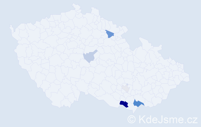 Příjmení: 'Lelka', počet výskytů 14 v celé ČR