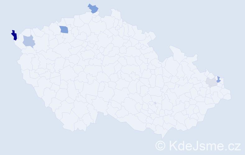 Příjmení: 'Gregusová', počet výskytů 8 v celé ČR