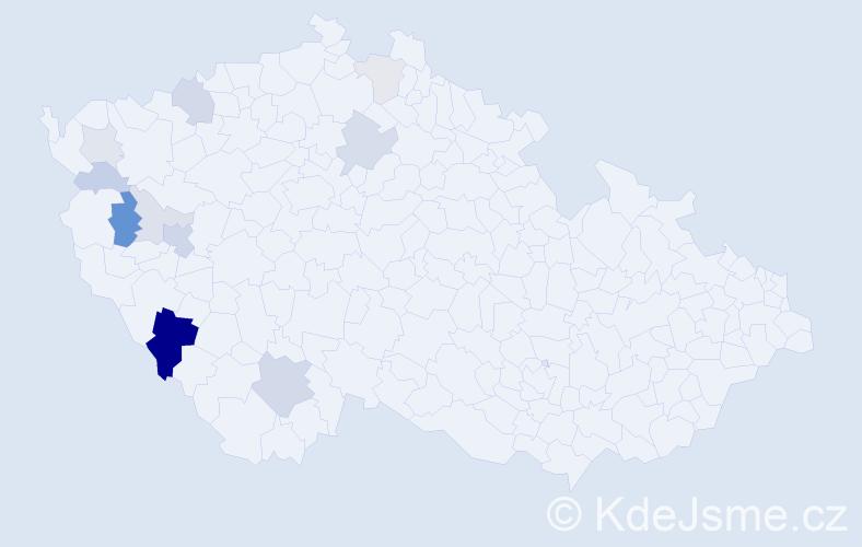 Příjmení: 'Hejplík', počet výskytů 29 v celé ČR