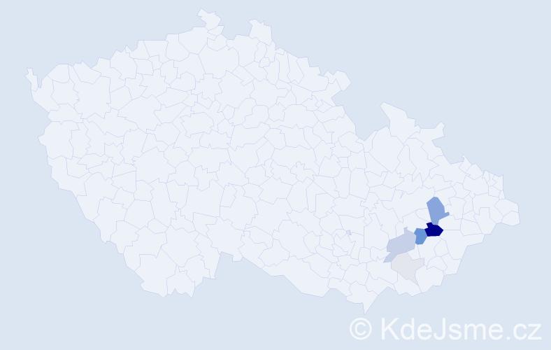 Příjmení: 'Icelová', počet výskytů 20 v celé ČR