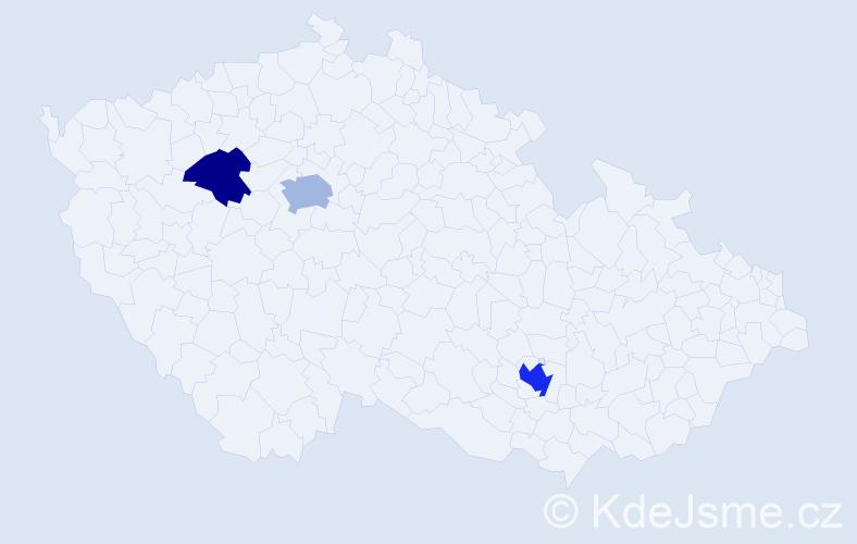 Příjmení: 'Casas', počet výskytů 6 v celé ČR