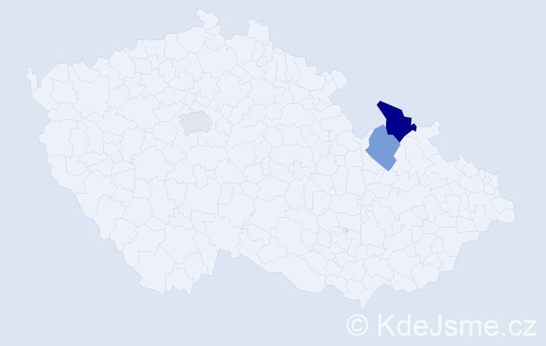 Příjmení: 'Arucidis', počet výskytů 4 v celé ČR