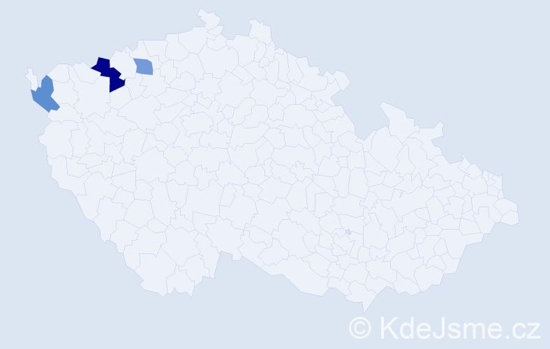 Příjmení: 'Čermuš', počet výskytů 4 v celé ČR