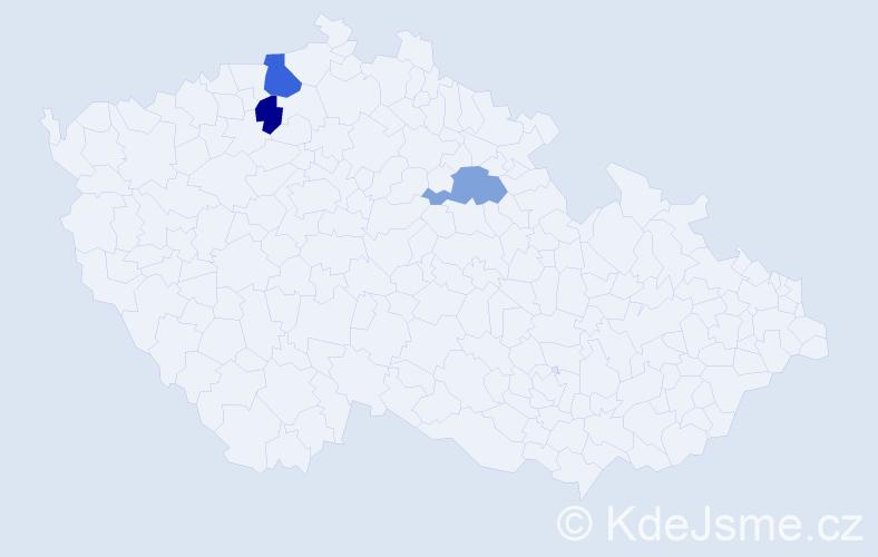Příjmení: 'Enekeš', počet výskytů 4 v celé ČR