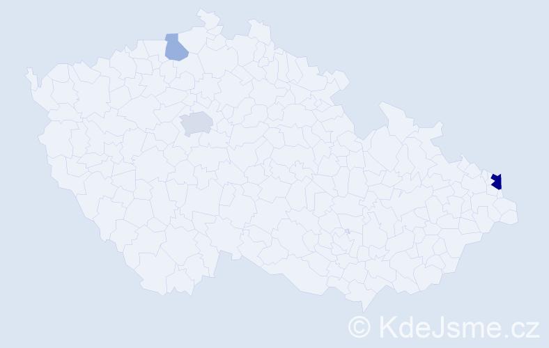 Příjmení: 'Krommel', počet výskytů 7 v celé ČR