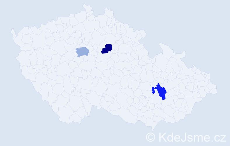 Příjmení: 'Daviesová', počet výskytů 7 v celé ČR