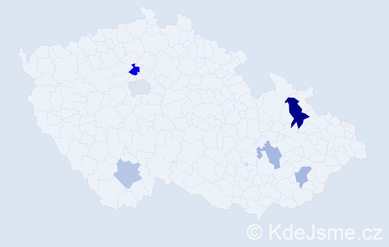 Příjmení: 'Hropko', počet výskytů 10 v celé ČR