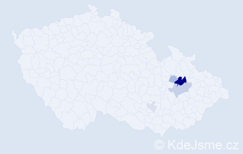 Příjmení: 'Harnayová', počet výskytů 14 v celé ČR