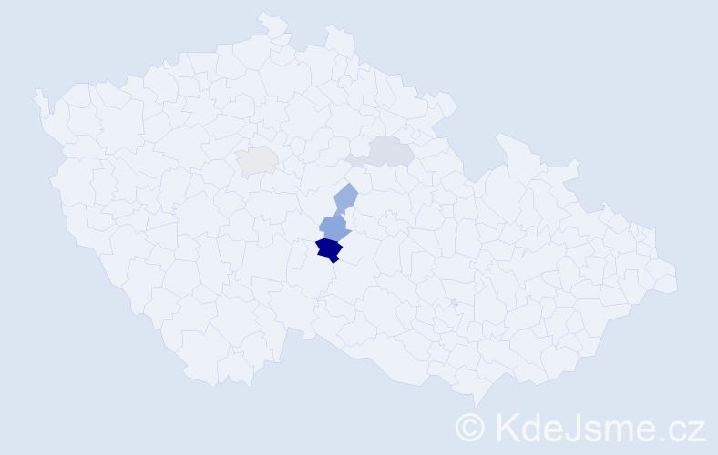 Příjmení: 'Arnotová', počet výskytů 10 v celé ČR