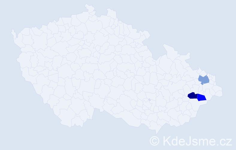 Příjmení: 'Glóza', počet výskytů 9 v celé ČR
