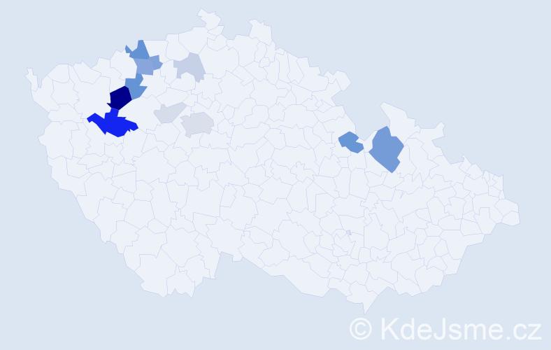 Příjmení: 'Harag', počet výskytů 29 v celé ČR