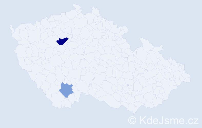 Příjmení: 'Duschanek', počet výskytů 4 v celé ČR