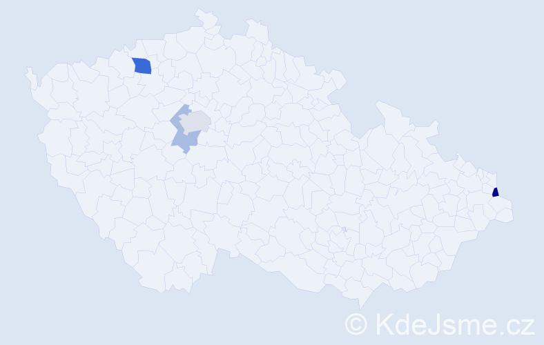 Příjmení: 'Hamborská', počet výskytů 8 v celé ČR