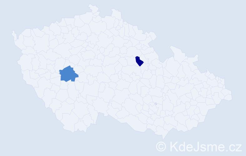 Příjmení: 'Kamenohorská', počet výskytů 3 v celé ČR