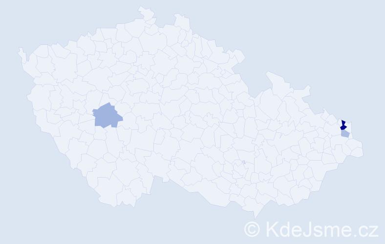 Příjmení: 'Barwiková', počet výskytů 6 v celé ČR