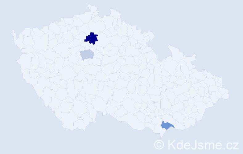 Příjmení: 'Eriksson', počet výskytů 6 v celé ČR