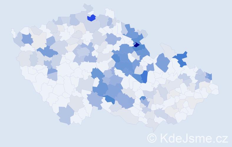 Příjmení: 'Janko', počet výskytů 618 v celé ČR