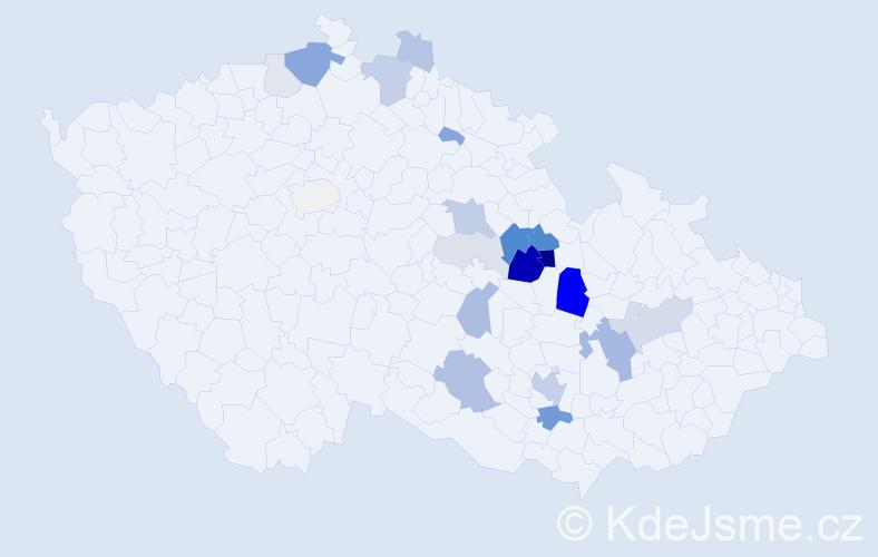 Příjmení: 'Huryta', počet výskytů 67 v celé ČR