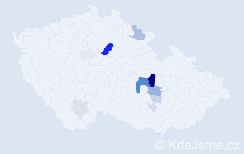 Příjmení: 'Ettlová', počet výskytů 29 v celé ČR