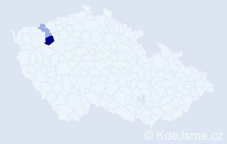 Příjmení: 'Kesselbauer', počet výskytů 4 v celé ČR