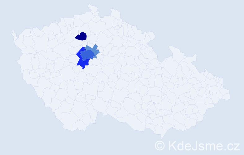 Příjmení: 'Hazlbauerová', počet výskytů 16 v celé ČR