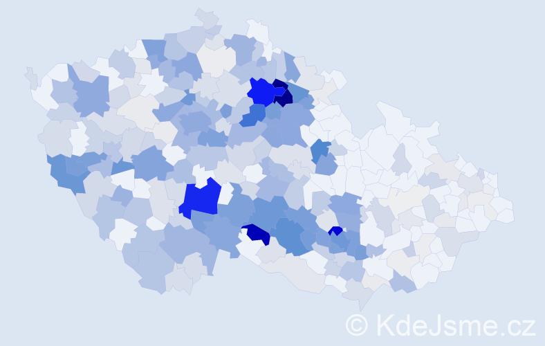 Příjmení: 'Kazdová', počet výskytů 1072 v celé ČR