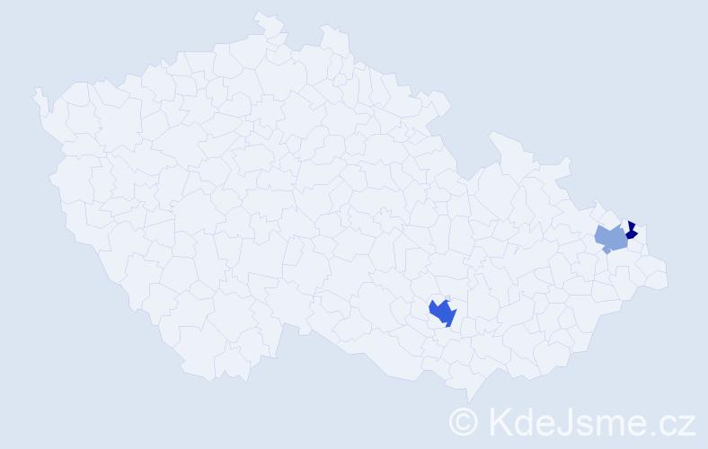 Příjmení: 'Hofstätter', počet výskytů 5 v celé ČR