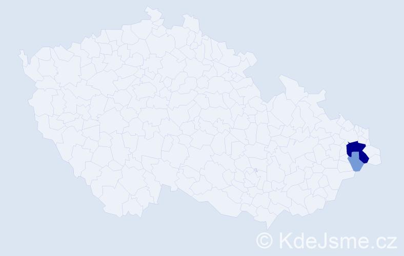 Příjmení: 'Embert', počet výskytů 13 v celé ČR