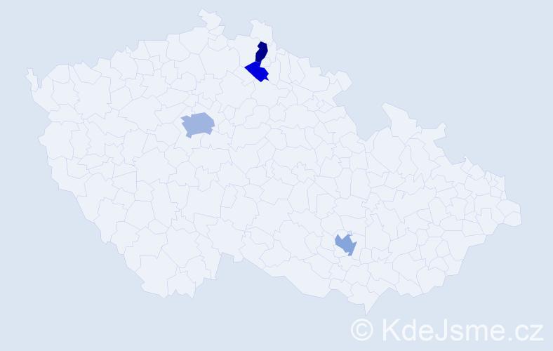 Příjmení: 'Brebta', počet výskytů 9 v celé ČR