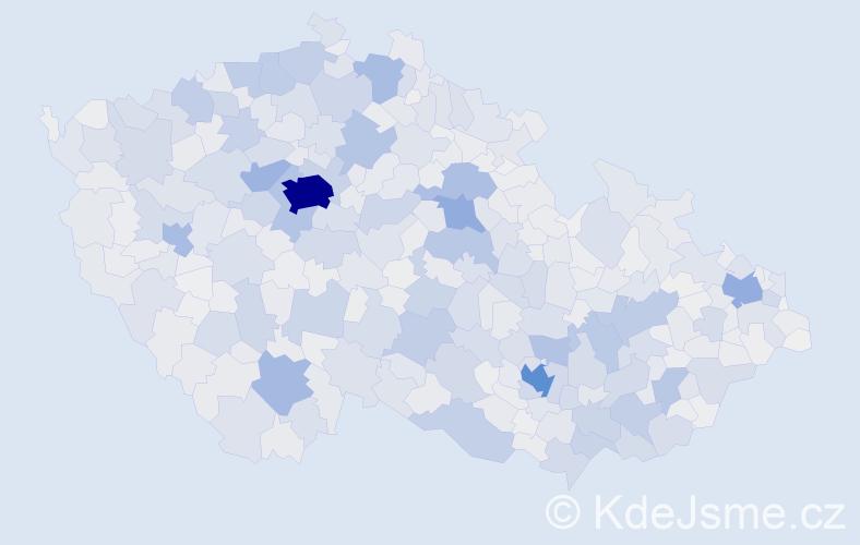 Příjmení: 'Kučerová', počet výskytů 15698 v celé ČR