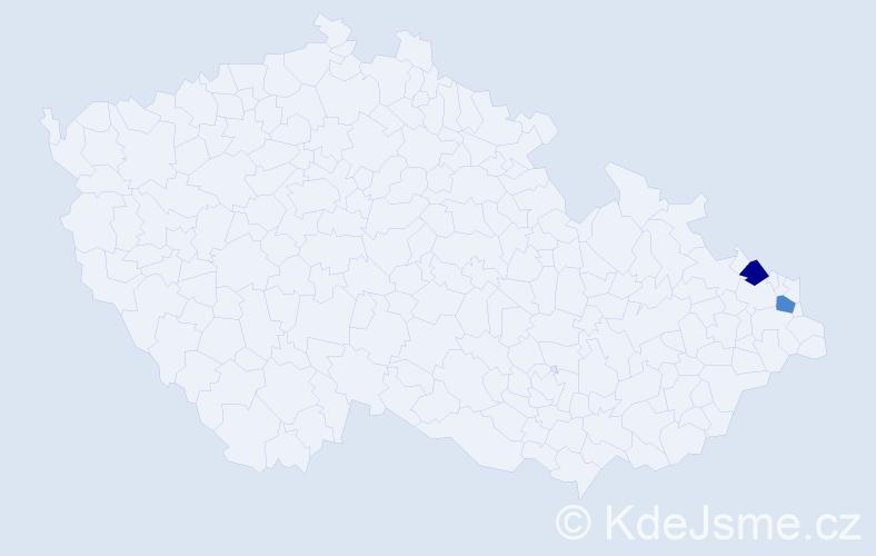 Příjmení: 'Čepiga', počet výskytů 2 v celé ČR