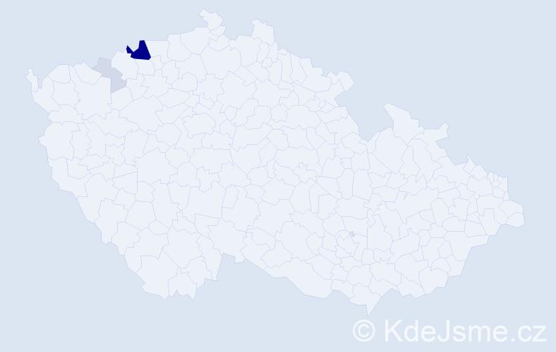 Příjmení: 'Kavor', počet výskytů 16 v celé ČR