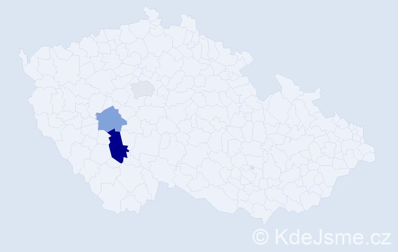 Příjmení: 'Ember', počet výskytů 5 v celé ČR
