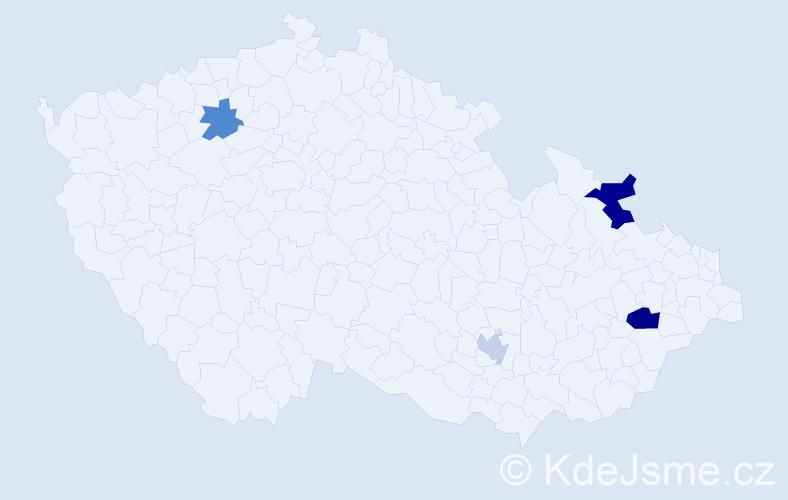 Příjmení: 'Baruch', počet výskytů 6 v celé ČR