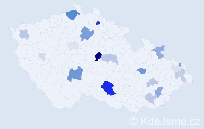 Příjmení: 'Ďurana', počet výskytů 37 v celé ČR