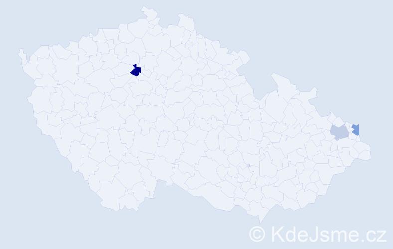 Příjmení: 'Góralczyková', počet výskytů 7 v celé ČR