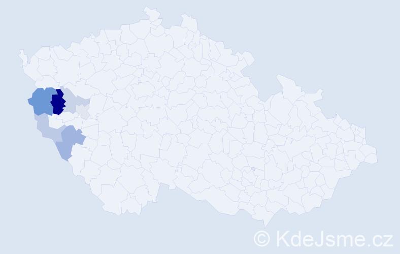 Příjmení: 'Čepičan', počet výskytů 12 v celé ČR