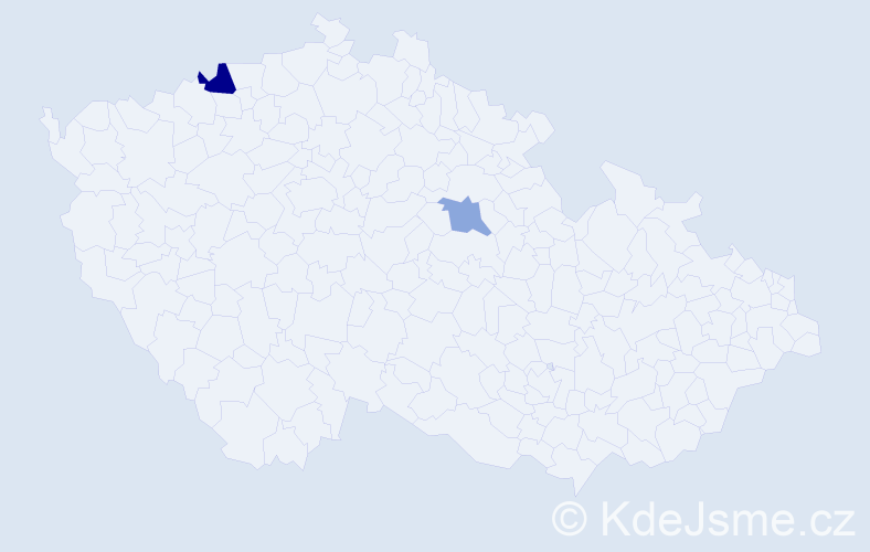 Příjmení: 'Angelkov', počet výskytů 3 v celé ČR