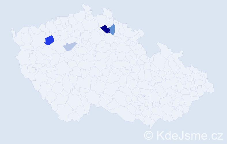 Příjmení: 'Isl', počet výskytů 6 v celé ČR