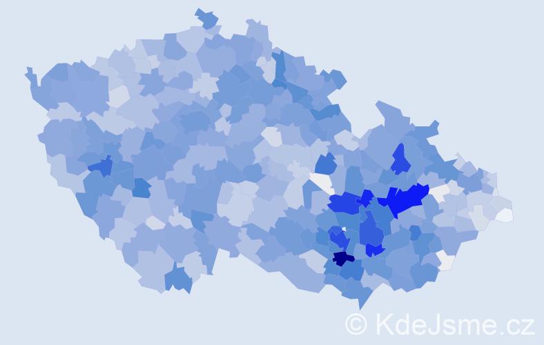 Příjmení: 'Sedláček', počet výskytů 8942 v celé ČR