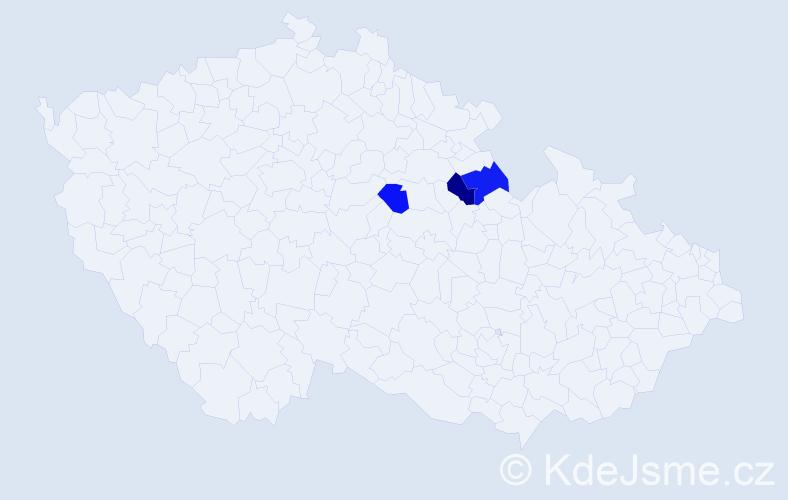 Příjmení: 'Bodenberger', počet výskytů 11 v celé ČR