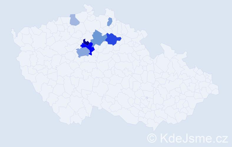 Příjmení: 'Aim', počet výskytů 22 v celé ČR