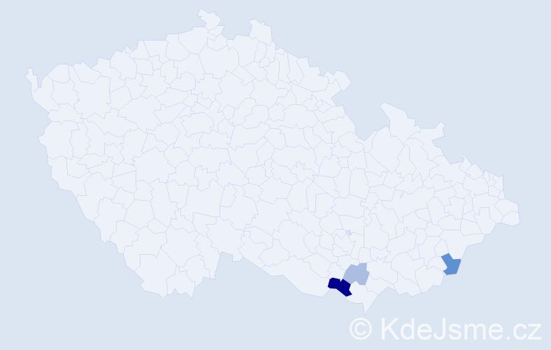 Příjmení: 'Hladníčková', počet výskytů 14 v celé ČR