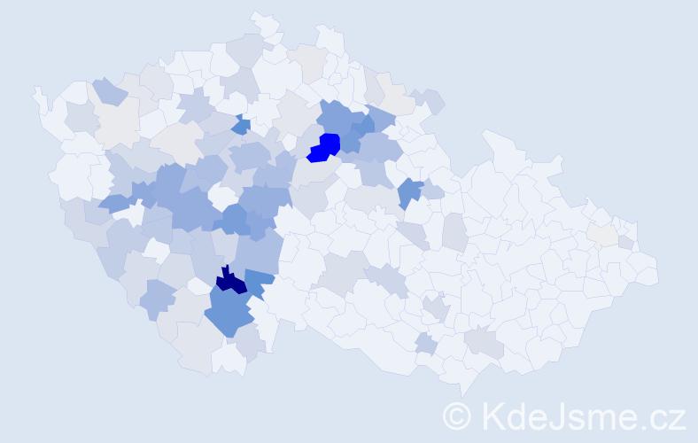 Příjmení: 'Čiperová', počet výskytů 379 v celé ČR