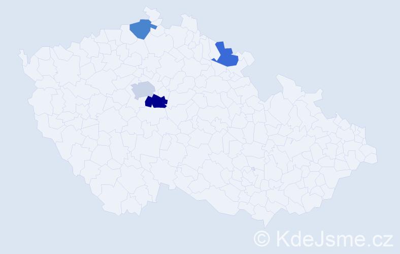 Příjmení: 'Kokrhoun', počet výskytů 10 v celé ČR