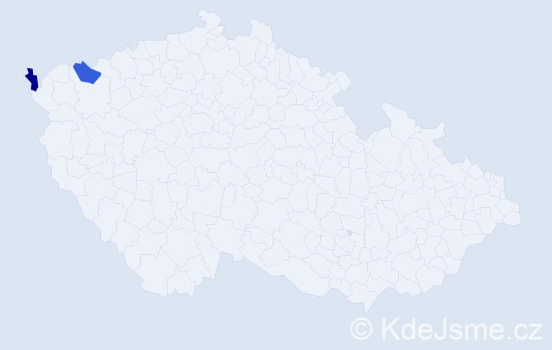 Příjmení: 'Karkošin', počet výskytů 2 v celé ČR