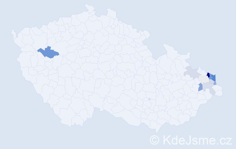Příjmení: 'Kubátko', počet výskytů 47 v celé ČR